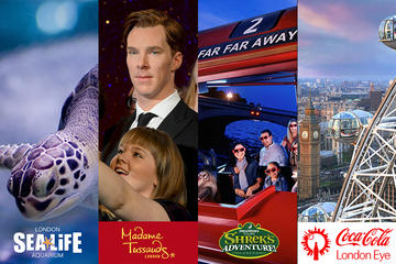 BIG London Attraction Ticket Including Madame Tussauds, SEA LIFE...