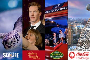 BIG London Attraction Ticket inklusive Madame Tussauds, SEA LIFE...