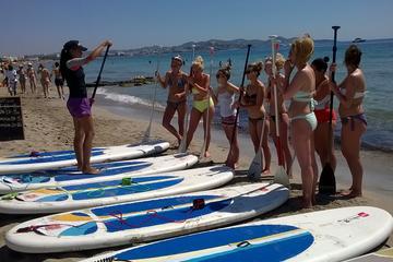 Clase de surf de remo y surf en Cataluña
