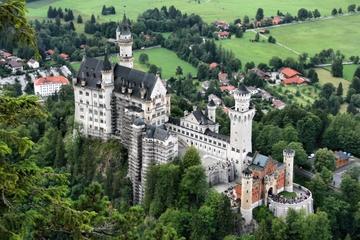 Kongeslottene i Neuschwanstein og...