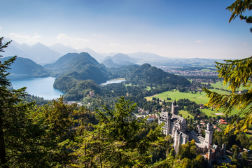 Passeio de um dia em ônibus de luxo pelos Castelos de Neuschwanstein...