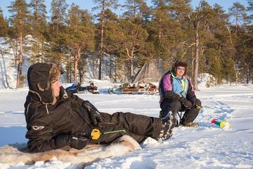 Ice Fishing Safari to Lake Inari from Inari-village