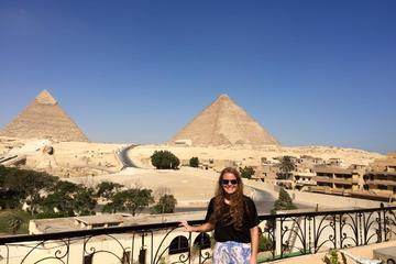 half day Giza pyramids with some local Egyptian foods