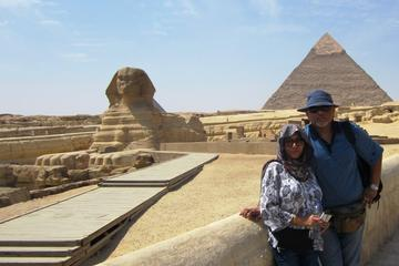 private full-day tour to Giza pyramids Saqqara Memphis and Dahshour true and bent pyramids
