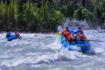 Day Trip Double-Whitewater Adventure on Kicking Horse River near Golden, Canada