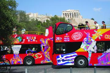Circuit touristique en bus à arrêts multiples à Athènes