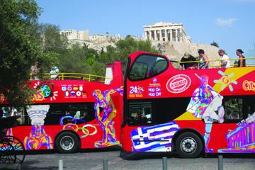 City Sightseeing hop-on hop-off tour door Athene