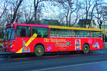 City Sightseeing Prague Hop-On Hop-Off Tour with Optional Vltava...