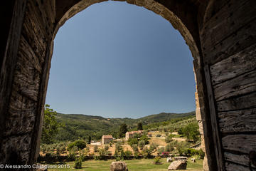 Privatbesuch Schloss und alter Weinkeller mit Weinprobe nahe Florenz
