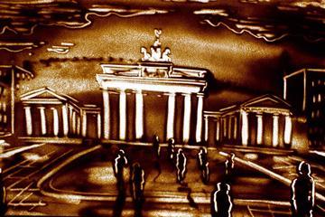 Sandkunst-Show in Berlin: die Geschichte Berlins