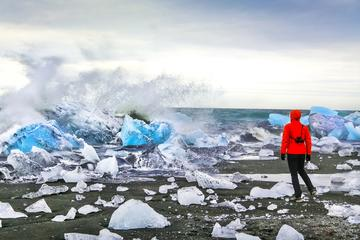 Heldagstur från Reykjavik till sydkusten och glaciärsjön Jökulsárlón