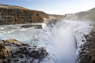 Hurtig halvdagstur fra Reykjavik til Gulfoss og Geysir