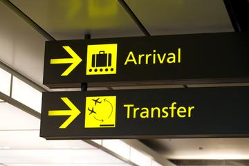 Privétransfer bij aankomst op de internationale luchthaven van ...
