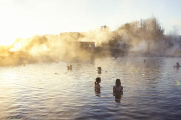 Secret Lagoon, Buffet Dinner, and Northern Lights Tour from Reykjavik