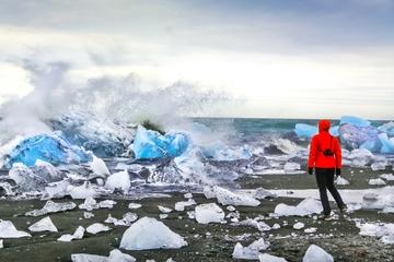 Tour di un giorno della costa meridionale dell'Islanda e della laguna