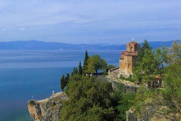 Ohrid city tour with Catamaran boat drive
