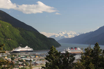 Skagway City and Mountain Summit...