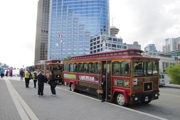 Hopp-på-hopp-av med trolleybuss i Vancouver