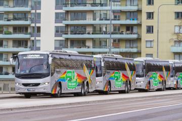 Gemeinsamer Transfer bei der Ankunft am Flughafen Stockholm-Arlanda