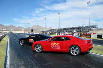 Side By Side Camaro Race At Auto Club Dragway