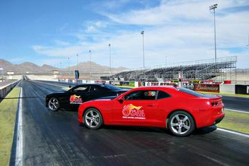Side By Side Camaro Race At National...