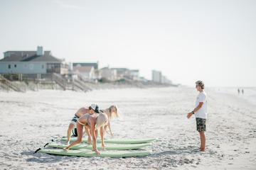 Group Surf Lessons on Folly Beach South Carolina