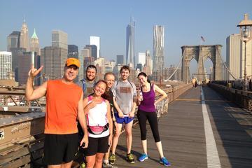 Excursion en course à pied sur le pont de Brooklyn