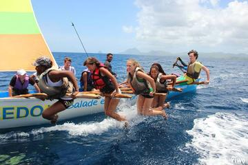 Full-Day Sailing Tour by Traditional Yole Boat in Martinique