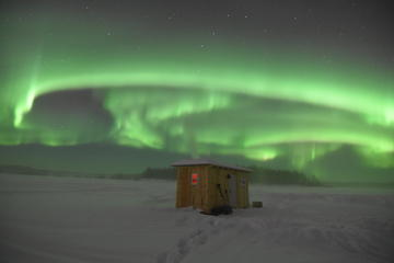 Aurora Borealis Viewing and Ice Fishing Adventure