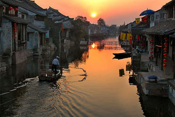 Private Xitang Water Village Sunset Boating Tour with Dinner from Shanghai