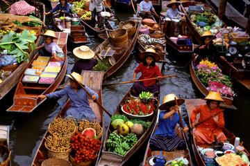 Excursion en petit groupe au marché flottant de Damnern Saduak au...