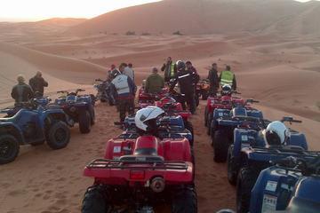 Quad Biking in Desert Dunes Merzouga...