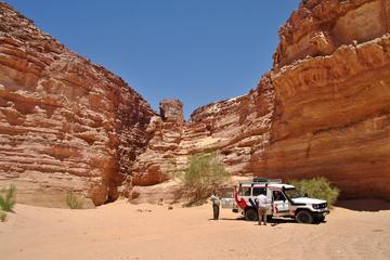 Private Safari im Geländewagen und Wanderung im Bunten Canyon