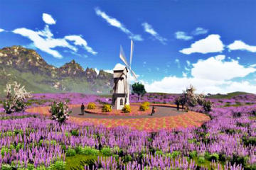One day honeymoon tour in Oriental Provence lavender manor and Mutianyu Great Wall
