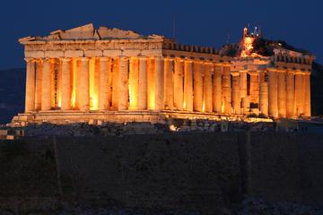 Athene sightseeing bij nacht met Griekse dinershow