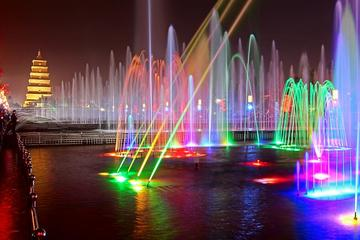 Xi'an Night Tour: South Gate Square and Musical Fountain at Big Wild...