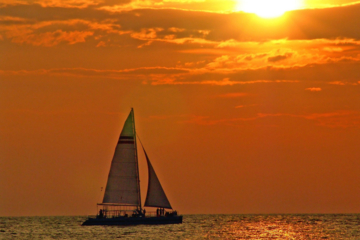 Combinado caribeño - navegar, buceo de superficie y puesta de sol