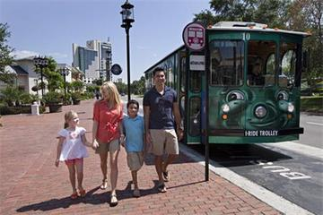 I-RIDE-bussen obegränsade turer med Unlimited Ride Pass-kortet