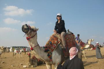 half day tour to Giza pyramids Sphinx Valley temple and camel ride
