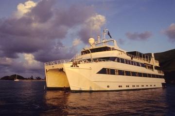 Bootsfahrt mit Abendessen ab Cancún mit karibischem Karnevalsmotto