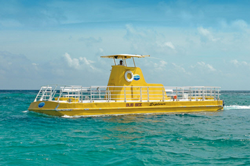 Excursão de submarino em Cancun com mergulho com snorkel opcional