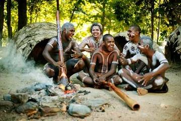 Ingresso de entrada ao Parque Cultural Aborígene Tjapukai