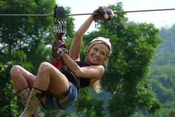 Half-Day Zip Line Canopy Ride Through the Jungle on Koh Samui