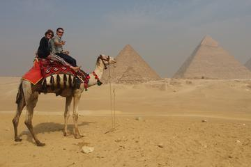Private Guided day tour to Giza Pyramids Sphinx Memphis City and Saqqara Pyramid