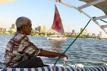 Sailing Egyptian felucca ride on the Nile with local lunch