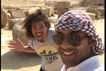 Stopover trip to Giza pyramids Sphinx Memphis Sakkara and boat ride on the Nile