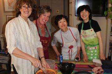 Aula de culinária francesa para grupo...