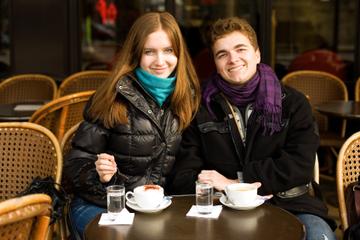 Les Franse conversatie in Parijs
