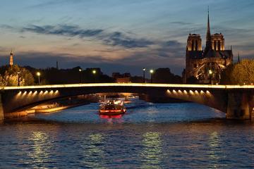 Privat tur: Romantisk sejltur på Seinen, middag og byens lys