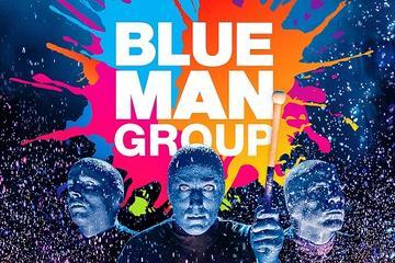 Espectáculo en directo de Blue Man Group fuera de Broadway